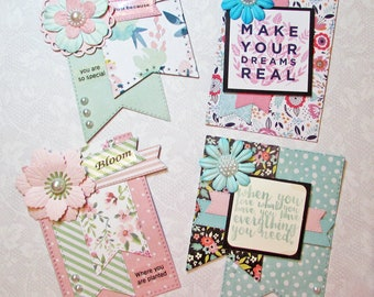 Large Embellishments, topper, handmade, scrapbook, planner, cards, journal, die cut, junk journal, happy mail, paper crafting, card making