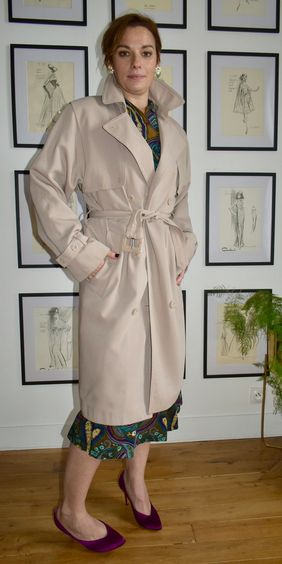 Claude Havrey Paris Chic Khaki Trench Coat