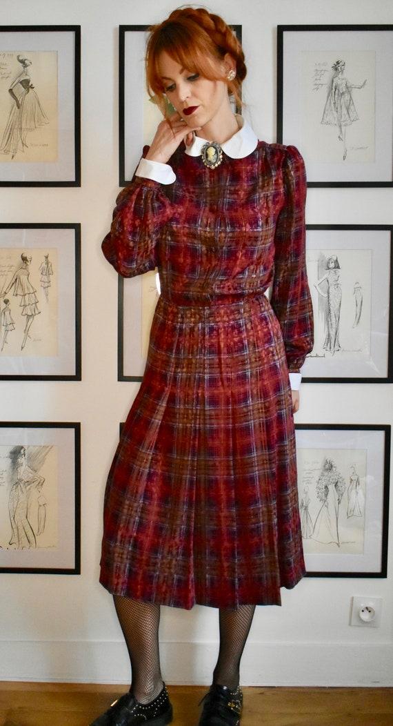 Gorgeous Vintage 70's Plaid Dress