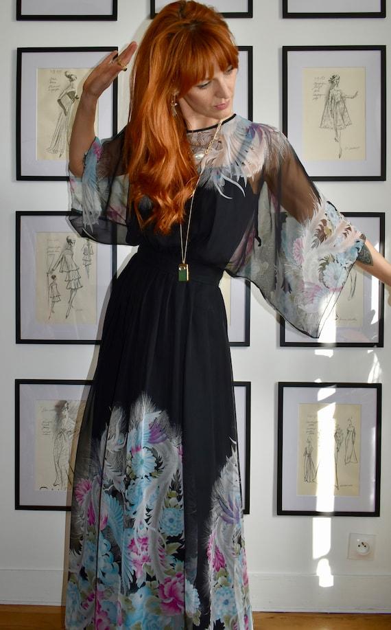 Gorgeous Vintage Maxi Boho Dress - image 3