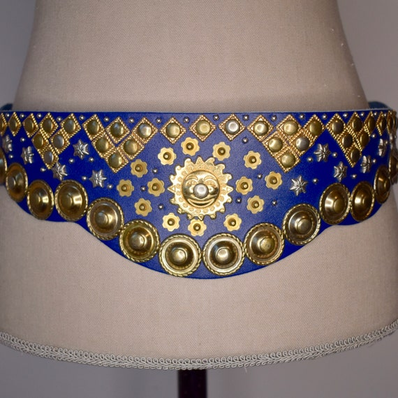 Vintage Celestial Sun and Stars Statement Belt