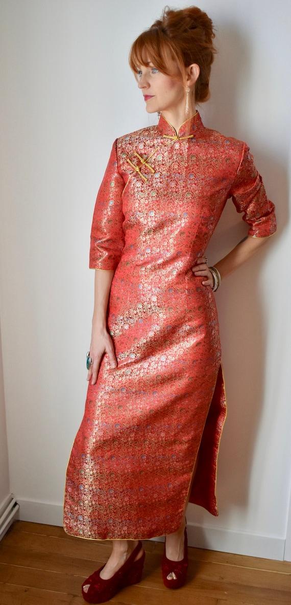 Vintage Cheongsam Red Dress