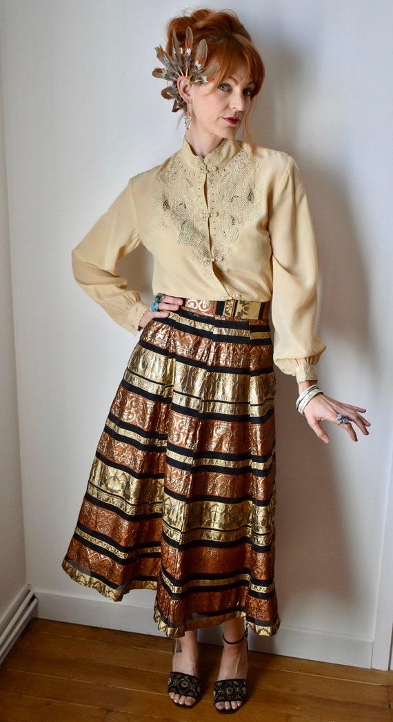 Vintage 60s/70s Metallic Skirt