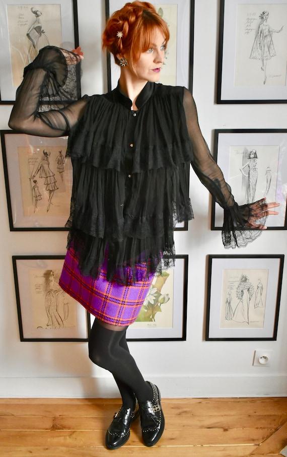 Vintage Roberto Cavalli Ruffle Silk Blouse