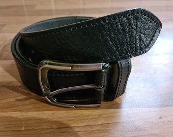 hipster brown leather belt handmade in Mexico genuine bovine leather belt Vintage brown leather belt men/'s leather belt size 34