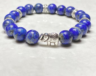 Lapis Lazuli Elephant Bracelet BRC-0121