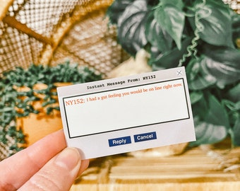 You've Got Mail Sticker // Instant Message Sticke // Rom Com Sticker // Romantic Comedy // Waterproof Sticker // Laptop Sticker