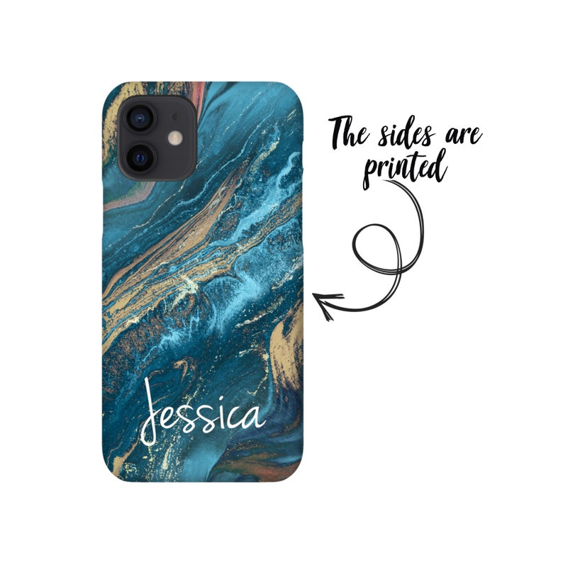Personalized Fluid iPhone Snap Case Tough Case Custom iPhone case Aesthetic Phone Name Phone Case Marble iPhone 12 case iPhone 11 case #359
