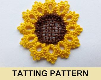 Sunflower tatting PDF pattern