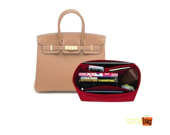 Purse Organizer For Herm. Birkin Bags   Tote Bag Organizer   Designer Handbag Organizer   Bag Insert   Purse Insert   Purse Storage