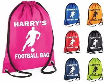 Personalised Car Drawstring Bag Boys Kids PE Bag Swimming School Bag Sports Bag Lunch Football Bag #28