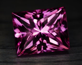 Pink Sapphire Lab Created Rectangle - 4.5CT