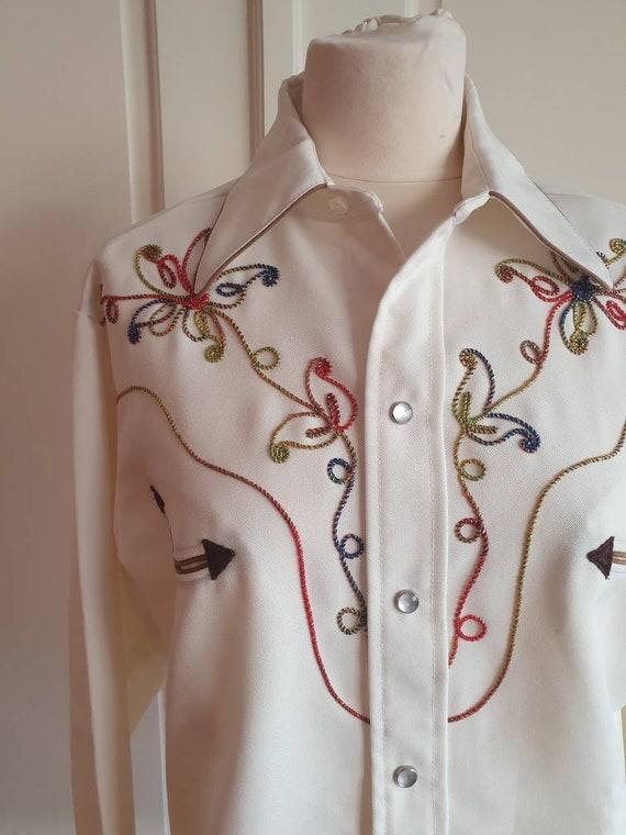 Vintage Women/'s H Bar C California Ranchwear Western Rockabilly Shirt