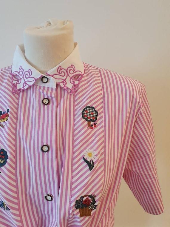 Vintage folklore blouse Large
