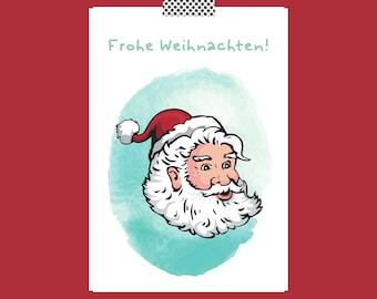 Christmas Postcard Christmas Card Christmas Greetings Merry Christmas Postcard Greeting Card Gift Card Nordic Santa Claus