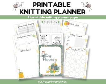 Printable Knitting Planner. DIGITAL DOWNLOAD. Use these printable knitting planner pages to create your own knitting journal Knitting binder