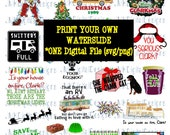 Griswold Family Christmas-PRINT your own waterslide decals- SVG PNG Digital File