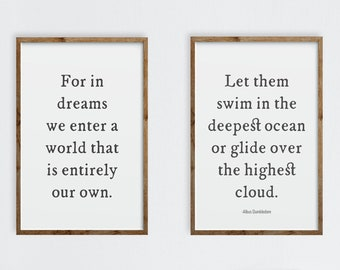 Wizarding For In Dreams Quote Nursery Art Digital Download Set