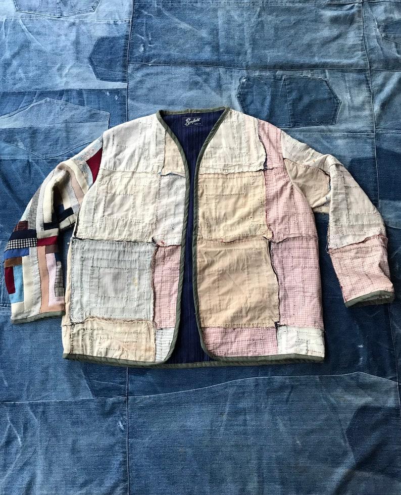 Quilt Jacket  Vintage Quilt Coat  Jacket made from old quilt  Ooak Jacket  Scofield Tacoma