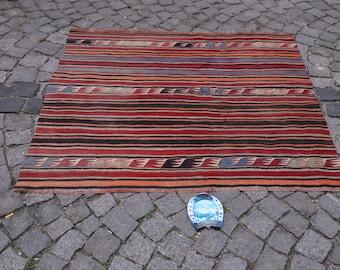 Old Rug Anatolian Rug 137x158cm FREE SHIPPING Anatolian Kilim Konya Hotamis Vintage Rug Turkish Rug Carpet  4.5x5.2 feet