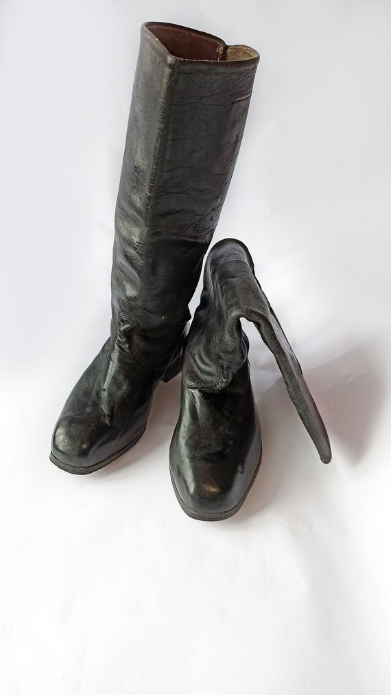 High chrome leather Boots