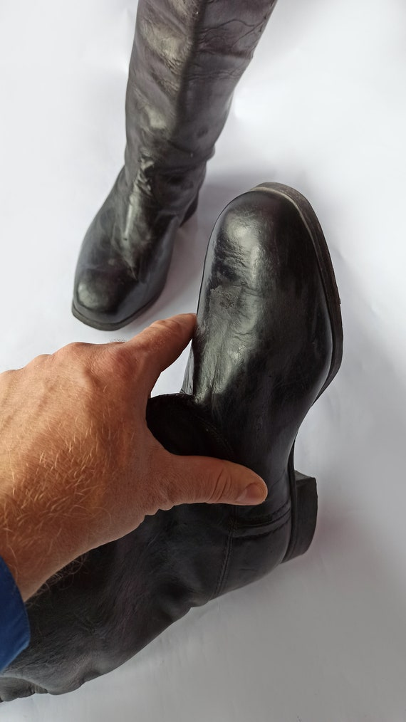 High chrome leather Boots - image 6