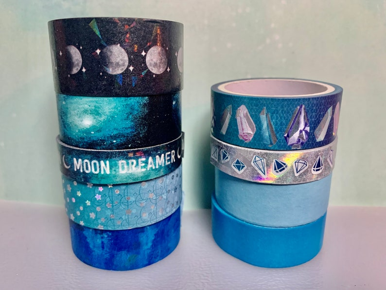 Moonlight Sonata Washi Sample Recollections Collection by Michaels Blue Theme