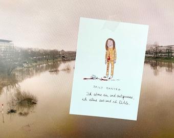 Three in set: postcard funny mindfulness card