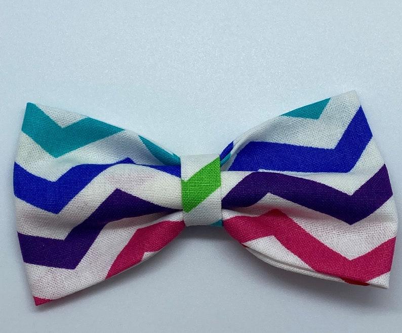 Rainbow Baby Bow Set Baby or Toddler Girl Hair Accessory Easter Basket Stuffer Nylon Headbands or Alligator Clip Finishing