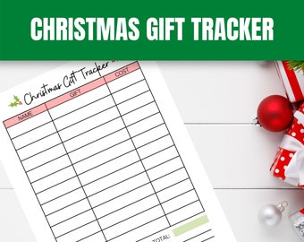 Gift Tracker Etsy