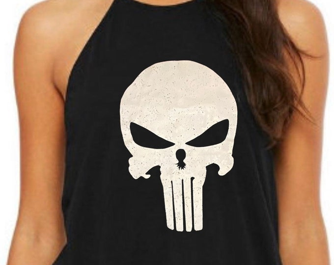 Featured listing image: T.U.G.S. Punisher Women's Flowy High Neck Tank Top Tank