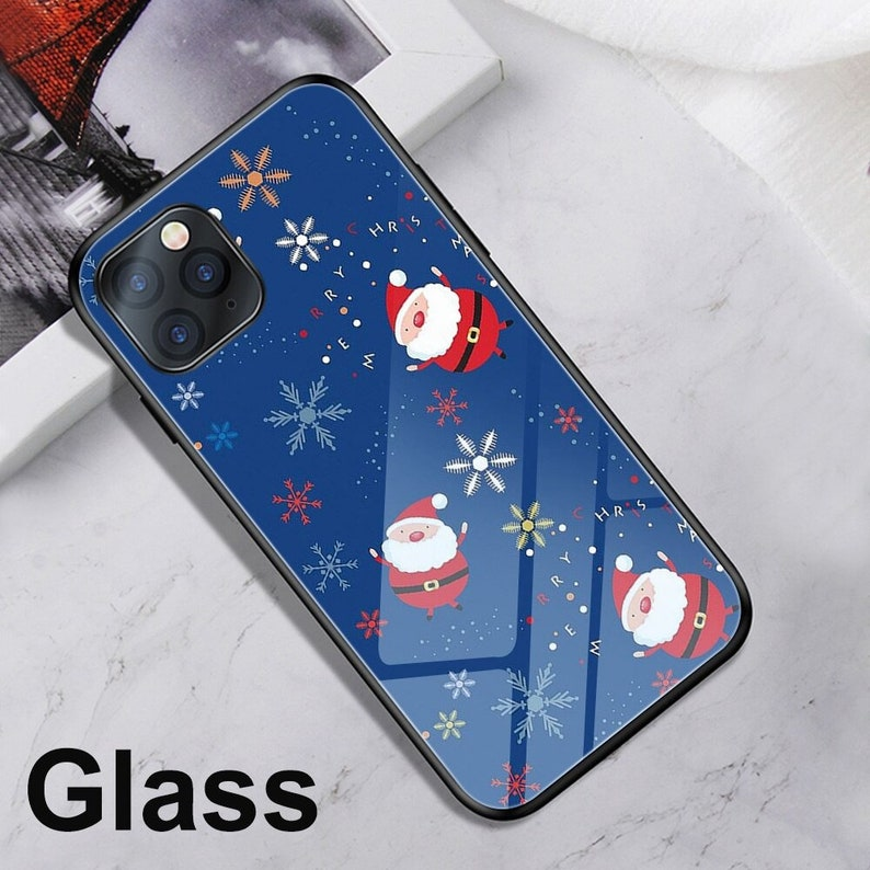 Ciciber Case For Iphone 11 12 Pro XS Max X Mini Case For Iphone XR 7 8 6 6S plus Wish Christmas Deer Tempered Glass Sticker