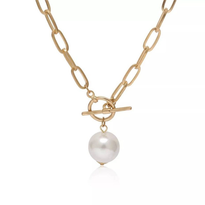 Gothic Baroque Pearl Coin Pendant Choker Necklace for Women Wedding Punk Bead Lariat Gold Color Long Chain Necklace Gift Christmas gift
