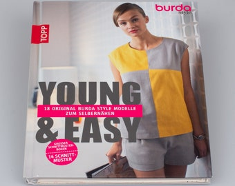 Young & Easy: 18 original burda style models for self-sewing - Large pattern bow/ 14 sewing pattern