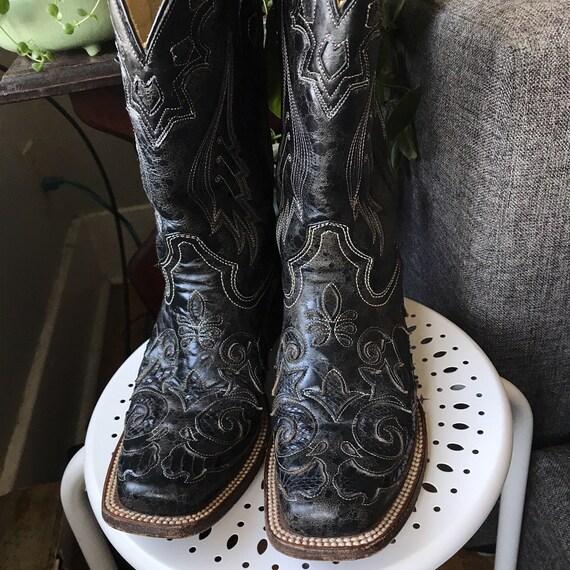 Coral Vintage Cowboy Boots Size 7 - image 4