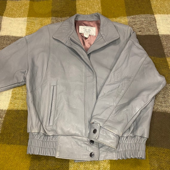 70s Leather Jacket Men's Medium