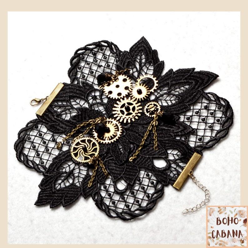 Steampunk Glove Punk Glove Costume Accessories Victoria Bracelet Handmade Lace Gloves