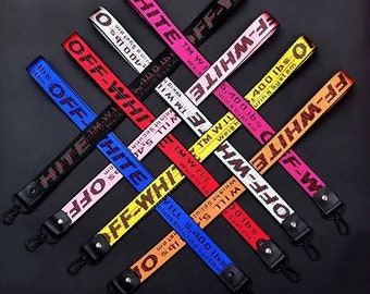 New Off White Industrial Keychain Key Buckle Lanyard Sneaker Streetwear US Fast