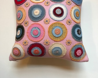 Jane Pollak Pink Penny Rug Pillow for the Future