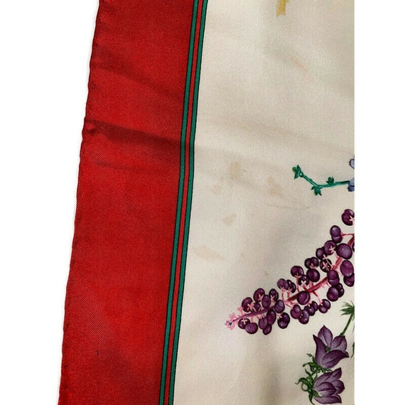 Authentic GUCCI Floral Scarf, Gucci Made in Italy… - image 4