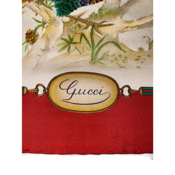 Authentic GUCCI Floral Scarf, Gucci Made in Italy… - image 8