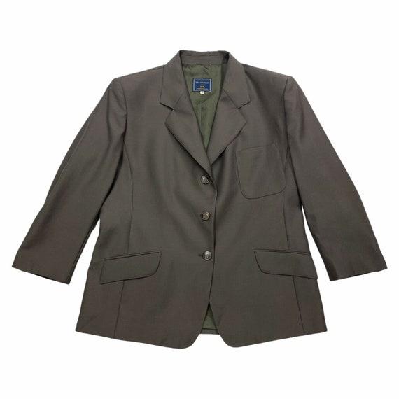 1960s Jacket style top and slim skirt Stunning Neiman Marcus Navy Blue Tweed 2 pc set Sm