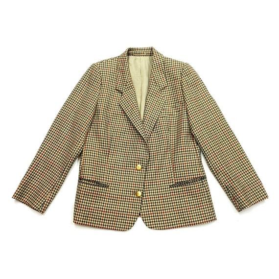 Burberrys Womens Houndstooth Blazer Jacket | Vinta