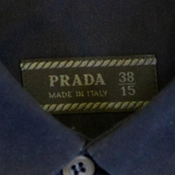 Prada Long Sleeve Button Up Shirt   Vintage Itali… - image 3