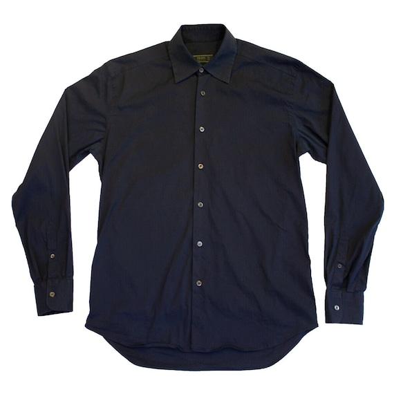 Prada Long Sleeve Button Up Shirt   Vintage Itali… - image 1