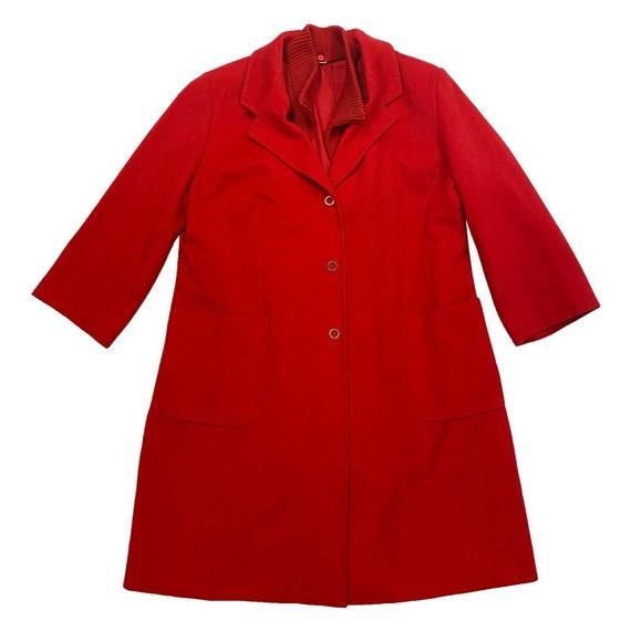 Voyage By Marina Rinaldi Red Womens Overcoat   Vin