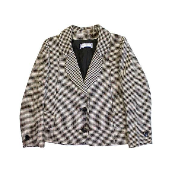 Yves Saint Laurent Womens Dogtooth Blazer Jacket |