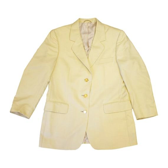 1960s Yellow Polka Dot Blazer  Yellow /& White Blazer   Ladies Suit Jacket