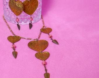 Vintage Mid-Century / Art Nouveau Heart Set