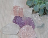 Waterstones for Power and Energy - Amethyst - Rose Quartz - Rock Crystal